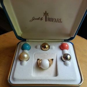 JEWELS BY TRIFARI interchangeable ring set